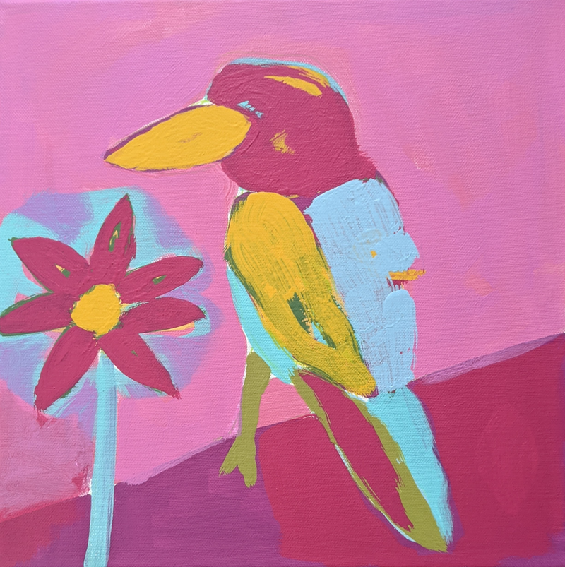 (CreativeWork) 'Kev'/2 by Karen Lee. Acrylic Paint. Shop online at Bluethumb.