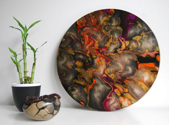 (CreativeWork) Black Opal by Melissa Page. Mixed Media. Shop online at Bluethumb.