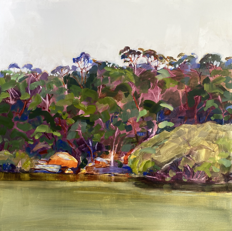 (CreativeWork) River Secrets I (AVAILABLE FRAMED) by Kate Gradwell. Acrylic Paint. Shop online at Bluethumb.