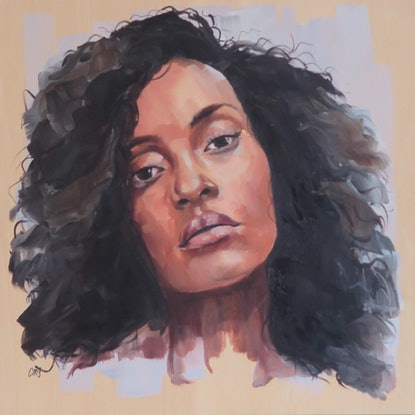 (CreativeWork) 2/50 by Courtney Mikaela. Oil Paint. Shop online at Bluethumb.