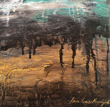 (CreativeWork) Golden Valley by Lara Louise Karpeljuk. Acrylic Paint. Shop online at Bluethumb.