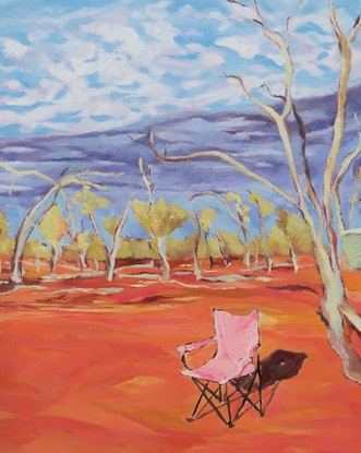 (CreativeWork) Outback iso  by Amanda Cutlack. Oil Paint. Shop online at Bluethumb.