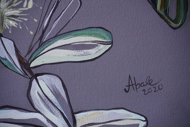 (CreativeWork) Banksia by Katerina Apale. Oil Paint. Shop online at Bluethumb.