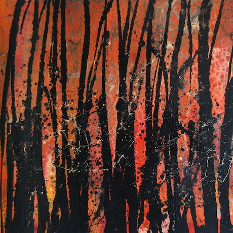 (CreativeWork) Bushfire AU 2019 by Melissa Page. Mixed Media. Shop online at Bluethumb.