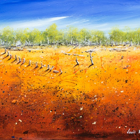 (CreativeWork) Edge Of The Stony 03 by Louis Dalozzo. Acrylic Paint. Shop online at Bluethumb.