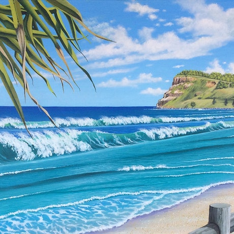 (CreativeWork) Lennox Head by Tony Beckley. Acrylic Paint. Shop online at Bluethumb.