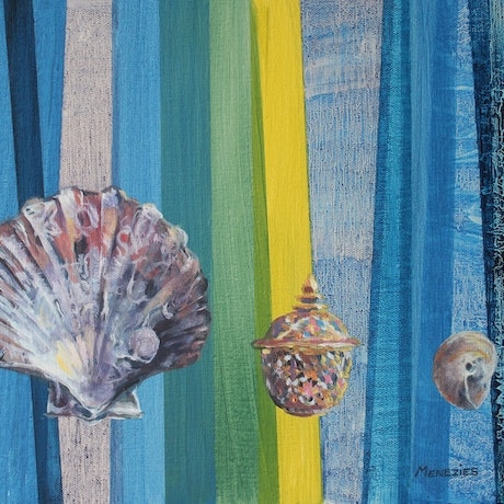 (CreativeWork) Ceramic and Shells by Ann Menezies. Oil Paint. Shop online at Bluethumb.