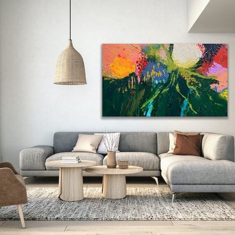 (CreativeWork) Diorissimo by BAKER COLLECTION. Acrylic Paint. Shop online at Bluethumb.