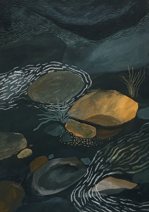 (CreativeWork) Ripples through Supply River by Chloe Papastavrou. Other Media. Shop online at Bluethumb.