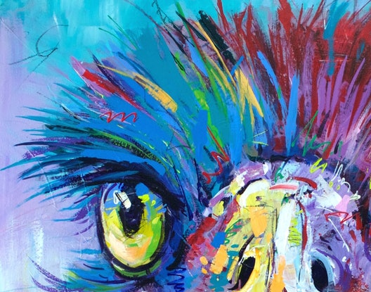 (CreativeWork) Emu 24 by Jos Coufreur. Acrylic Paint. Shop online at Bluethumb.