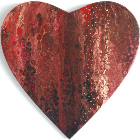 (CreativeWork) Wholeheartedly by Melissa Page. Mixed Media. Shop online at Bluethumb.