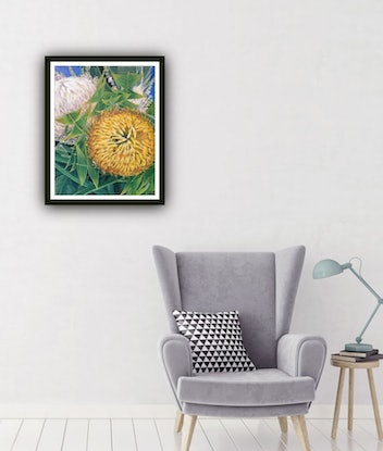 (CreativeWork) Come A Little Bit Closer - LIMITED EDITION GICLEE PRINT- A1 Large Print - Easy To Frame Ed. 4 of 100 by HSIN LIN. Print. Shop online at Bluethumb.