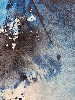 (CreativeWork) The Blue Series no4 by Kathleen Rhee. Acrylic Paint. Shop online at Bluethumb.