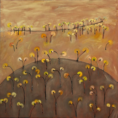 (CreativeWork) Ten Foot Hill II by Michael Wolfe. Acrylic Paint. Shop online at Bluethumb.