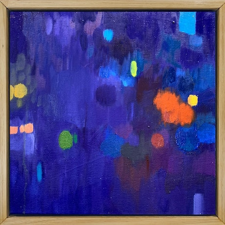 (CreativeWork) Key of Ab Minor by Louise Isackson. Oil Paint. Shop online at Bluethumb.