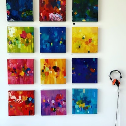 (CreativeWork) Key of F Major by Louise Isackson. Oil Paint. Shop online at Bluethumb.