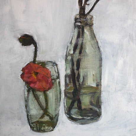 (CreativeWork) Poppy by Bronwen Hunt. Oil Paint. Shop online at Bluethumb.