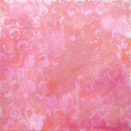 (CreativeWork) Coral Forms II by Jennifer Bell. Mixed Media. Shop online at Bluethumb.