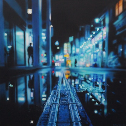 (CreativeWork) After the Rain by Todd Simpson. Acrylic Paint. Shop online at Bluethumb.