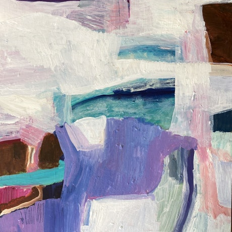 (CreativeWork) We had an outdoor pool by Sally Fisher. Acrylic Paint. Shop online at Bluethumb.