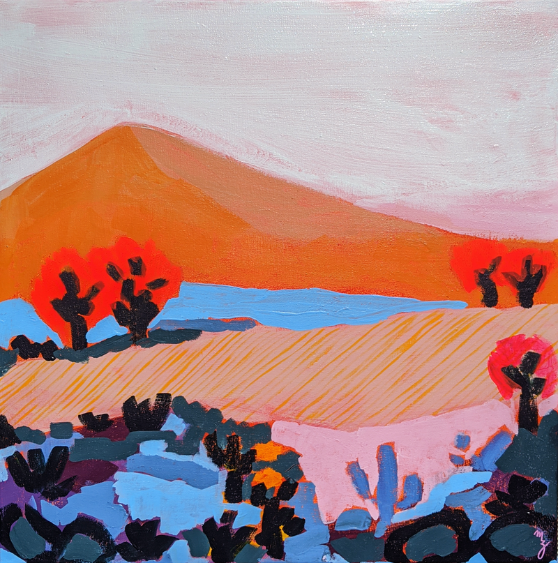(CreativeWork) Oasis by Maria Al Zoubi. Acrylic Paint. Shop online at Bluethumb.