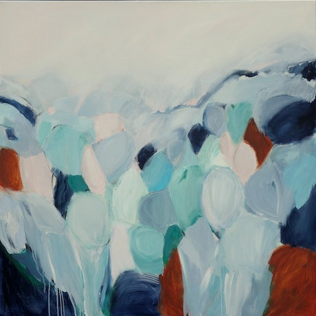 (CreativeWork) Free Spirit - Abstract Landscape  by Brenda Meynell. Acrylic Paint. Shop online at Bluethumb.