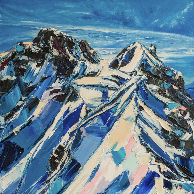 (CreativeWork) out of blue by Valeriia Sedlak. Oil Paint. Shop online at Bluethumb.