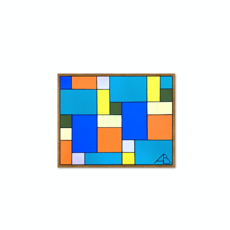 (CreativeWork) The Tiles No.4- Santiago Collection  by Andria Beighton. Acrylic Paint. Shop online at Bluethumb.