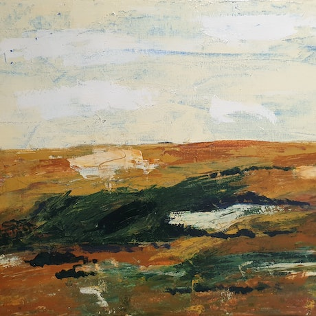 (CreativeWork) Landscape by Olga Megele. Acrylic Paint. Shop online at Bluethumb.