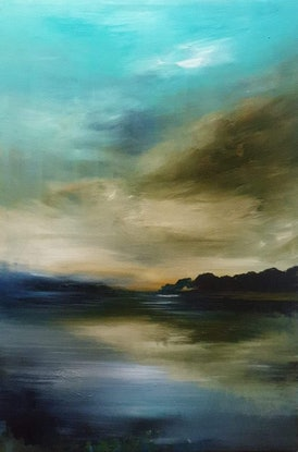 (CreativeWork) Subtle Serenity by Alice Howell. Oil Paint. Shop online at Bluethumb.
