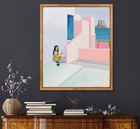 (CreativeWork) I Met You In The Quiet by Anna Bektash. Acrylic Paint. Shop online at Bluethumb.