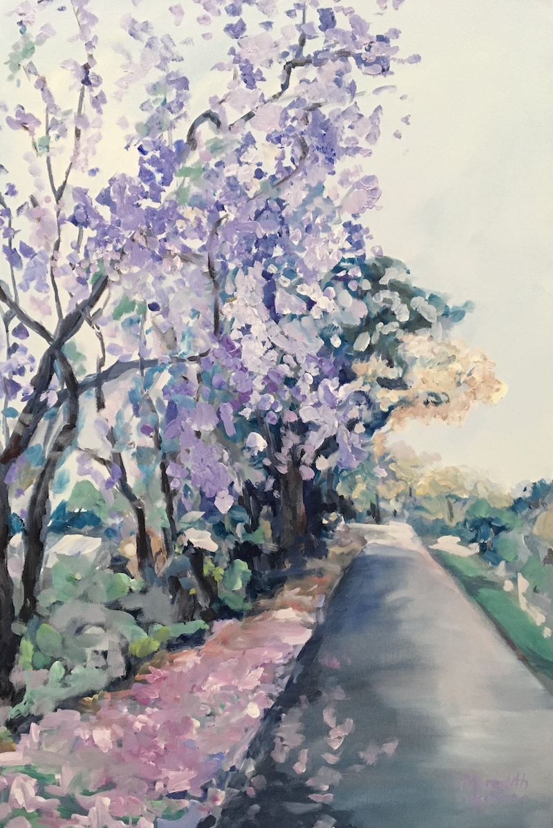(CreativeWork) Ashgrove  by Meredith Howse. Acrylic Paint. Shop online at Bluethumb.