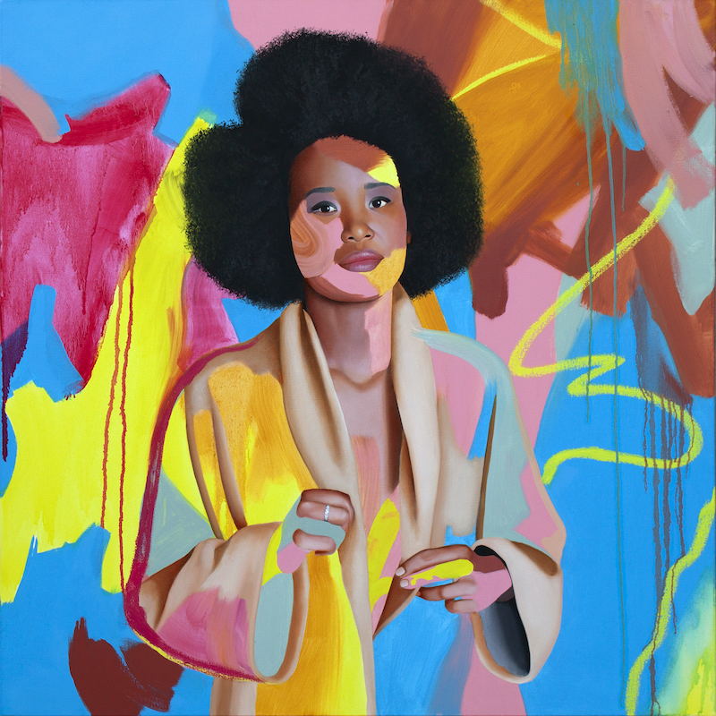 (CreativeWork) Agolley by Kim Leutwyler. Oil Paint. Shop online at Bluethumb.