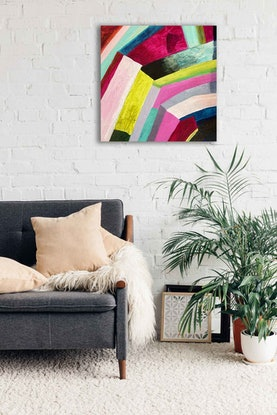 (CreativeWork) Not the rainbow leaf by Sally Fisher. Acrylic Paint. Shop online at Bluethumb.