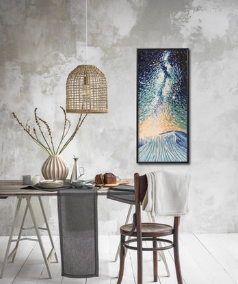 (CreativeWork) Pouring Stars by Aylee Kim. Oil Paint. Shop online at Bluethumb.