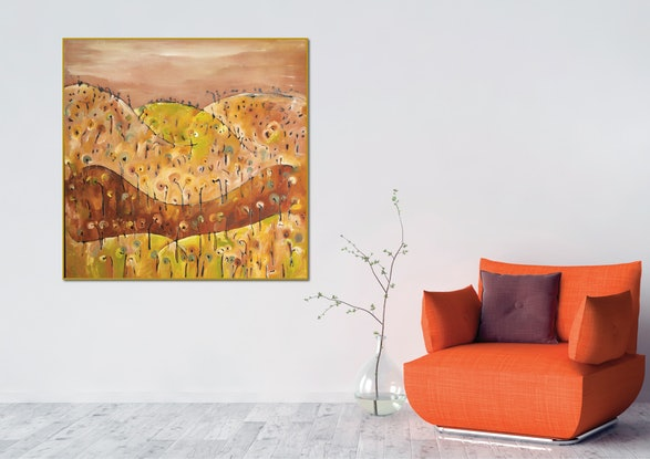 (CreativeWork) Ten Foot Hill III by Michael Wolfe. Acrylic Paint. Shop online at Bluethumb.