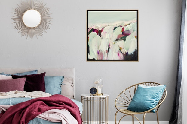 (CreativeWork) Silent Moments - Abstract Landscape by Brenda Meynell. Acrylic Paint. Shop online at Bluethumb.
