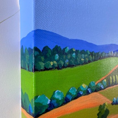 (CreativeWork) Tilba 8 Down the Green Hill - Original Painting by Lisa Turner. Acrylic Paint. Shop online at Bluethumb.