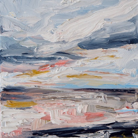 (CreativeWork) Mini Seascape 2 by Michelle Keighley. Oil Paint. Shop online at Bluethumb.