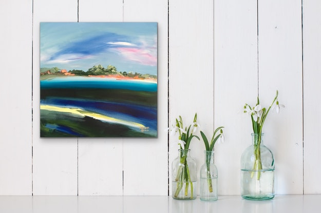 (CreativeWork) Turquoise  by Meredith Howse. Acrylic Paint. Shop online at Bluethumb.