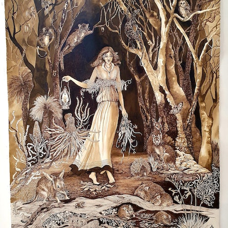 (CreativeWork) The Lightbearer Ed. 5 of 30 by Jeanette Giroud. Print. Shop online at Bluethumb.