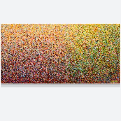 (CreativeWork) Sydney Garden Dance 152 x 76cm Acrylic on canvas  by George Hall. Acrylic Paint. Shop online at Bluethumb.