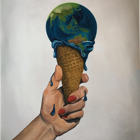 (CreativeWork) In Our Hands - Limited Edition Print 45x60cm - Help to off-set carbon emissions  Ed. 1 of 25 by Lara Louise Karpeljuk. Print. Shop online at Bluethumb.