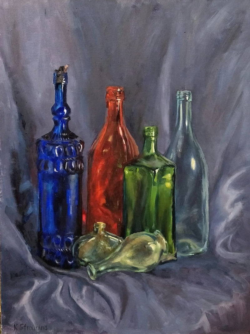 (CreativeWork) The odd one by Katia Strounina. Oil Paint. Shop online at Bluethumb.