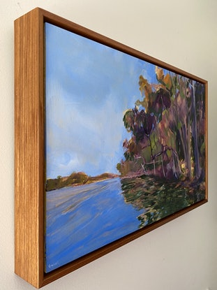 (CreativeWork) Happier Times (FRAMED)  by Kate Gradwell. Acrylic Paint. Shop online at Bluethumb.