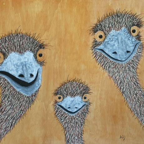 (CreativeWork) Who Are You Looking At by Barry Johnson. Mixed Media. Shop online at Bluethumb.