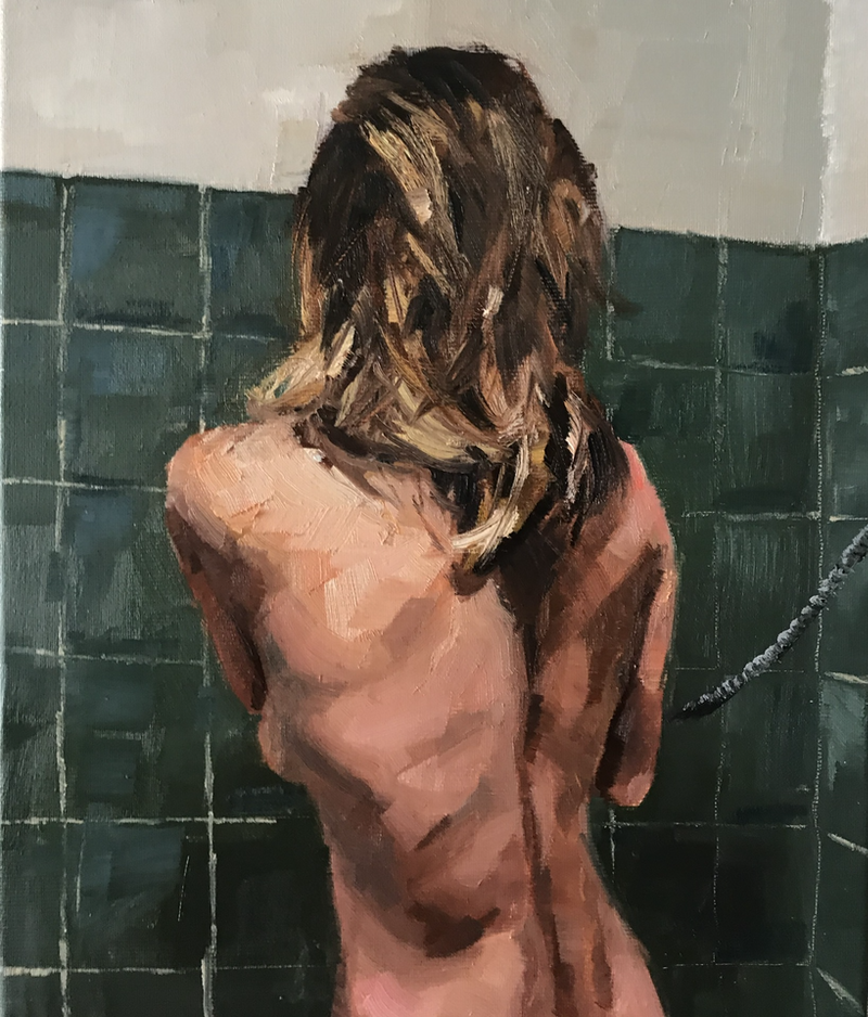 (CreativeWork) After the beach III by James Needham. Oil Paint. Shop online at Bluethumb.