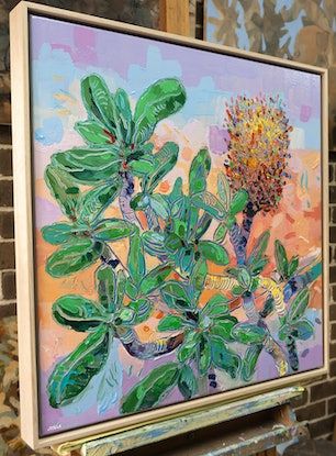 (CreativeWork) Banksia Integrifolia 3 - Framed by Joseph Villanueva. Acrylic Paint. Shop online at Bluethumb.