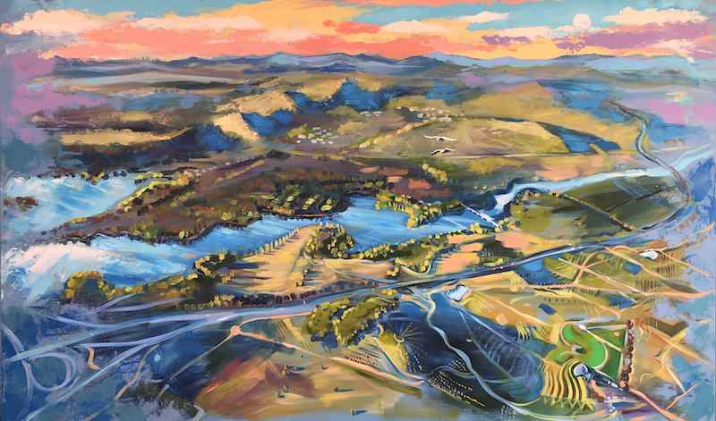 (CreativeWork) The Parkway by Valentyna Crane. Acrylic Paint. Shop online at Bluethumb.
