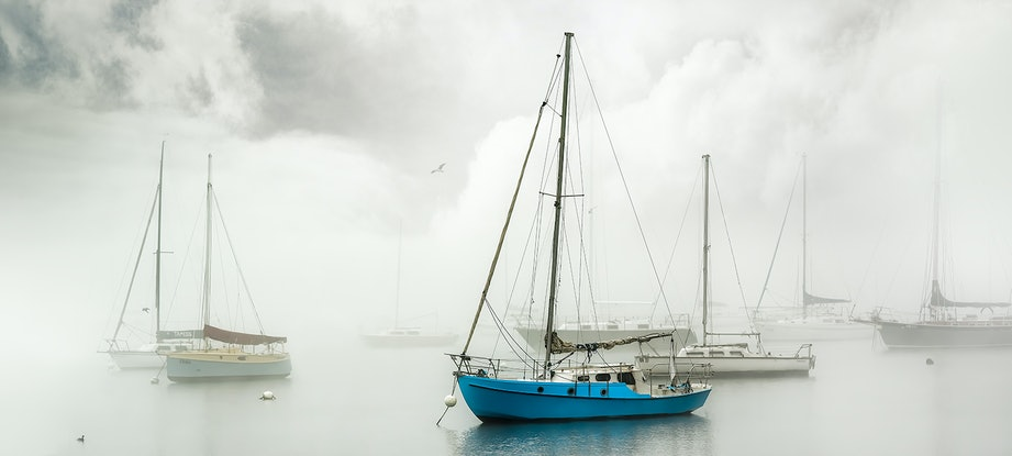 (CreativeWork) Misty Blue Ed. 39 of 50 by Nick Psomiadis. Print. Shop online at Bluethumb.